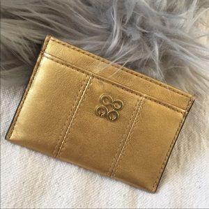 COACH GOLD 4 SLOT CARD HOLDER